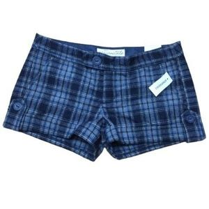 Aeropostale Original Plaid Blue Shorts Size 5/6